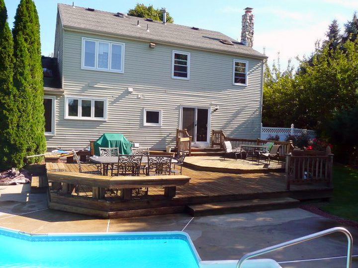 Raised Patio And Pavers Around Pool Before U2013 Masco